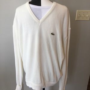 "Vtg Izod sweater size XL ( chest 52"")"